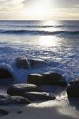 Lumière vive sur la plage — Photo