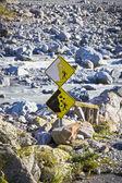 Landslide sign — Stock Photo
