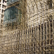 Stock Photo: Bamboo scaffold.