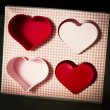 Rubber vintage hearts — Stock Photo
