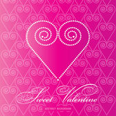 Sweet Valentine abstract background — Stock Vector