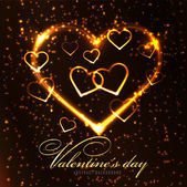 Valentine's day abstract background — Vector de stock