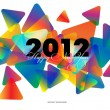 Stock Vector: Happy New Year 2012 abstract background
