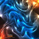 抽象比美的背景与波 — 图库矢量图片