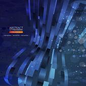 Ilustración abstracta de líneas sobre fondo azul — Vector de stock