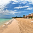 Beach at Playa del Carmen, Mexico — Stock Photo