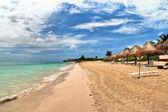 Beach at Playa del Carmen, Mexico — Stock fotografie