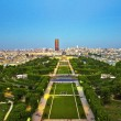 Champs de Mars from Eiffel Tower - Stock Photo