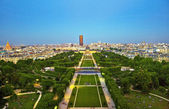 Champs de Mars from Eiffel Tower — Stock Photo