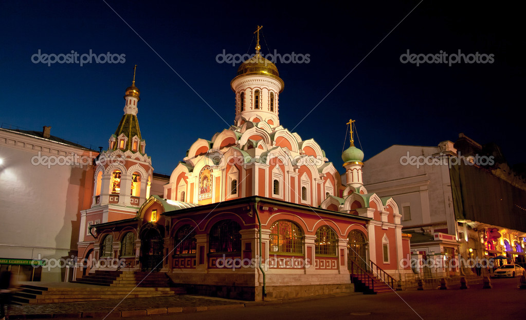 Kazan Cathedral in Red Square in Moscow, Russia � Stock Photo ...