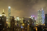 Hong Kong bay at night — Stock Photo