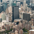 Stock Photo: Aerial View of Midtown Manhattand Madison Square Garden, New York, USA