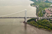 Aerial View of Manhattan, New York, USA — Stock Photo