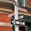 SOHO street signs in New York, USA — Stock Photo