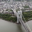 ������, ������: Aerial view of Manhattan and George Washington bridge New York