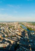 City of Frankfurt high view Germany — Stock Photo