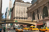 Gran central terminal fasad i new york city — Stockfoto