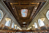 Rose main reading room in New York Public Library, NYC — Stock Photo