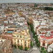 Sevilla aerial view, Spain — Stock Photo