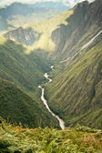 River flowing through the mountains in Cusco, Peru. — Stock Photo