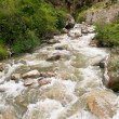 Stock Photo: Mountains and rivers close to Machu Picchu, Cusco, Peru