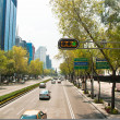 Paseo de la Reforma, the main avenue in Mexico City, Mexico. — 图库照片