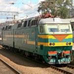 Train in Yaroslavsky railway station, Moscow — Stock Photo