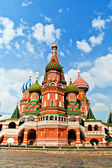 St. Basil's Cathedral, in Red Square, Moscow, Russia — Стоковое фото