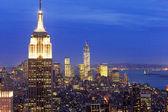 Manhattan and Empire State building, New York, USA. — Stock Photo