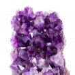 Large amethyst on a marble base — Stock Photo
