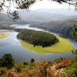 Meander of the Alagon River,  Extremadura (Spain) - Stock Photo