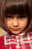Little pretty girl with expresive eyes — Stock Photo