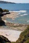 Playa salvaje en hendaya, francia — Foto de Stock