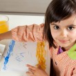 Little artist painting — Stock Photo #26295523