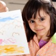 Proud little artist — Stock Photo