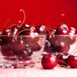 Bowls of cherries — Stock Photo
