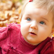 Portrait of autumn baby girl — Stock Photo
