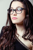 Beautiful girl with glasses portrait — Stock Photo