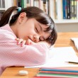School girl sleeping — Stock Photo #49451357