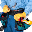 Handyman with Toolbox - Stock Photo