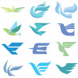 Birds - 12 Logo Signs - Stock Vector