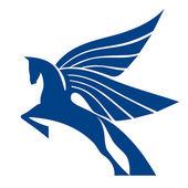 Pegasus Horse Logo Vector Sign — Stock Vector