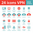Vector 24 Icons VPN (Virtual Private Network) — Stock Vector #21817753