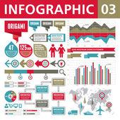 Infografica elementi 03 — Vettoriale Stock