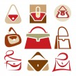 Handbags Signs - Stock Vector