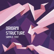 Royalty-Free Stock Vektorfiler: Origami Structure Concept