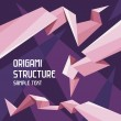 Royalty-Free Stock : Origami Structure Concept