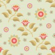 Floral Seamless Pattern 09 — Stock Vector