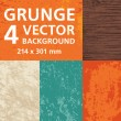 Grunge - 4 Vector Backgrounds - Stock Vector