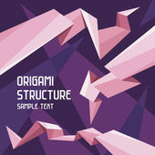 Origami Structure Concept — Stock Vector